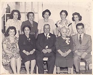 Rosanne's father, grandparents, and aunts